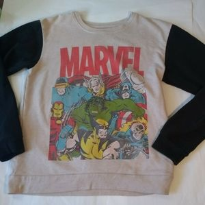 Sweaters - Marvel Comics Vintage Style Pullover Sweater